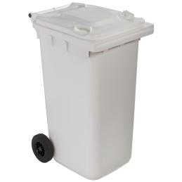Poubelle plastique à roulette 240 litres blanc