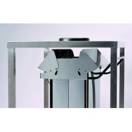 Conteneur mobile à pédale à ouverture centrale 70 litres
