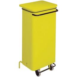 Conteneur mobile a pédale 110 litres janune