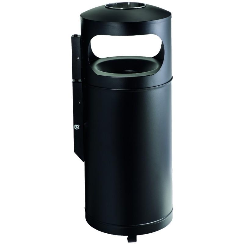 Corbeille cendrier Grisu city à tête étouffoir 110 litres