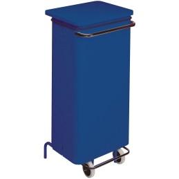 Conteneur mobile a pédale 110 litres bleu
