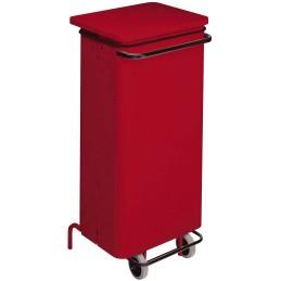 Conteneur mobile a pédale 110 litres rouge