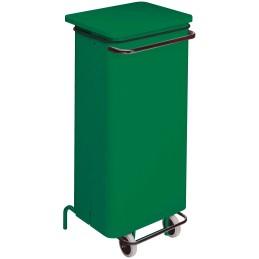 Conteneur mobile a pédale 110 litres vert