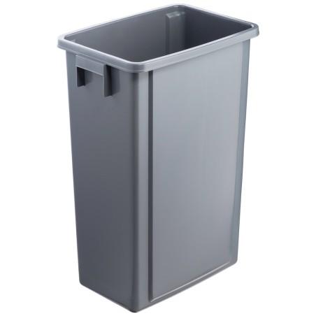 Bac gris pour poubelle tri sélectif 60 litres