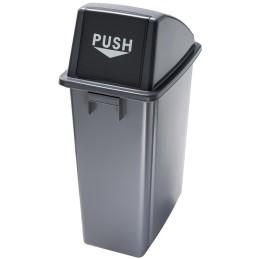 Poubelle tri sélective ouverture frontale battante «push»