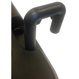 Crochet de liaison pour chariot à roulette