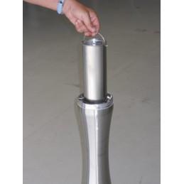 Cendrier colonne forme inox brossé 4 litres