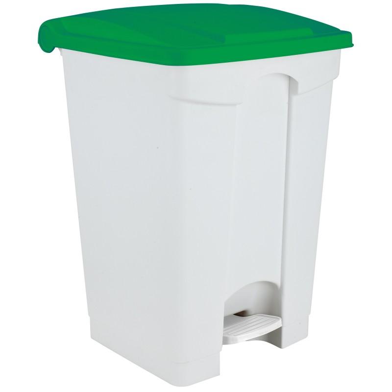 Pédale recyclage HACCP couvercle vert
