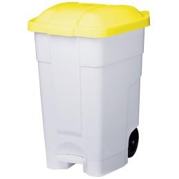 Conteneur plastique mobile jaune
