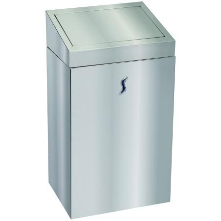 Poubelle sanitaire 25 litres couvercle basculant inox