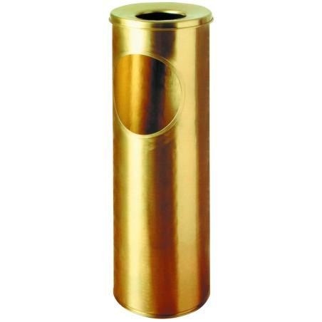 Cendrier corbeille luxe laiton vernis à poser 16 litres