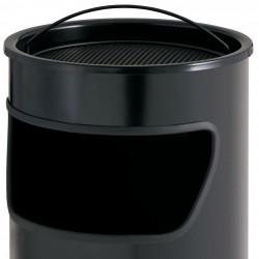 Cendrier corbeille à sable acier noir 25 litres
