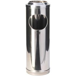 Petit cendrier corbeille inox à grille 11 litres