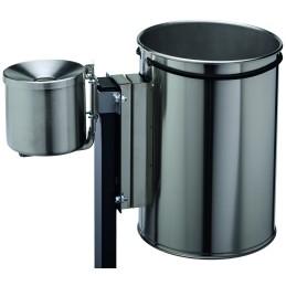 Fixation cendrier 0,5 et 2 litres pour corbeille rectangulaire et cylindrique